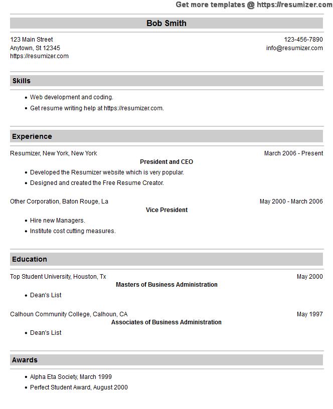 new resume example style 19
