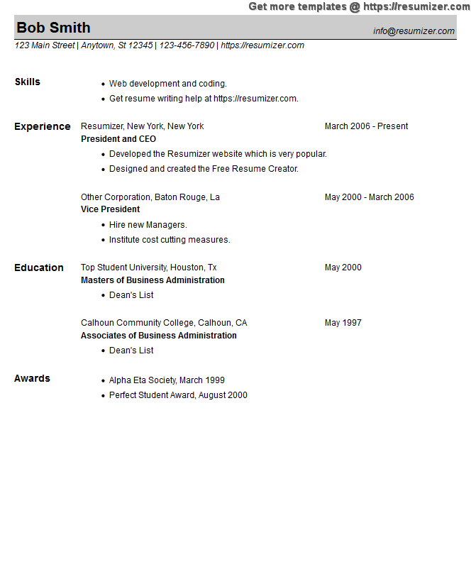 fill in resume example style 23 for free resume creator