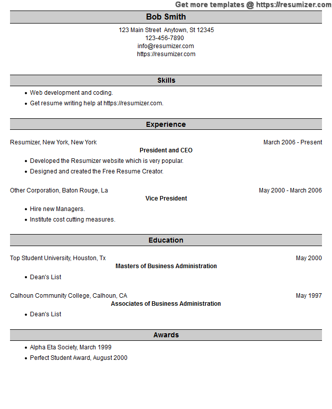 optimized resume example style optimized resume example style